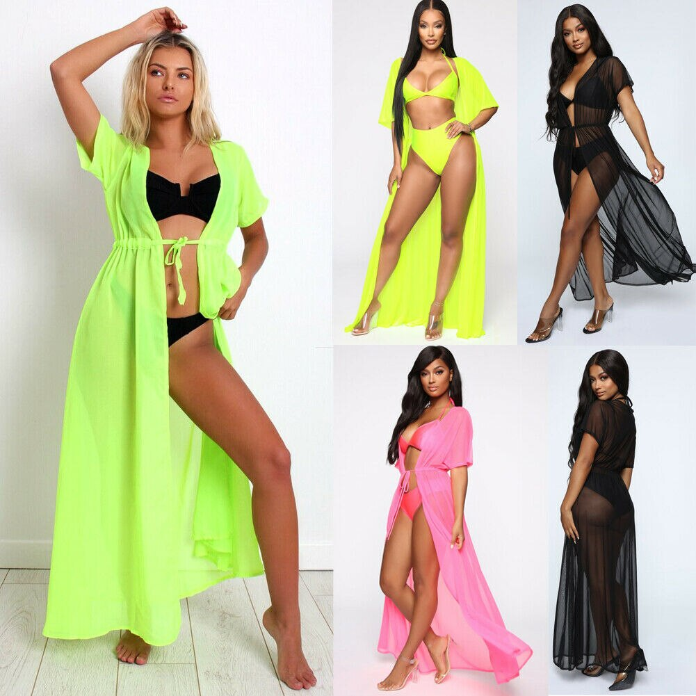 Women Sexy Swimwear Bikini Cover Up Beach Dress Bathing Suit Women Swimsuit Plus Size Maxi Wrap Skirt Sarong Pareo Dress
