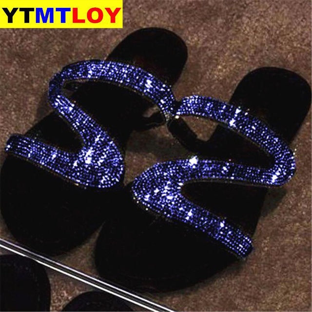 Women Summer Flat Bling Slippers Transparent Soft Jelly Shoes Female Flip Flops Sandals Outdoor Beach Ladies Slides Plus Size