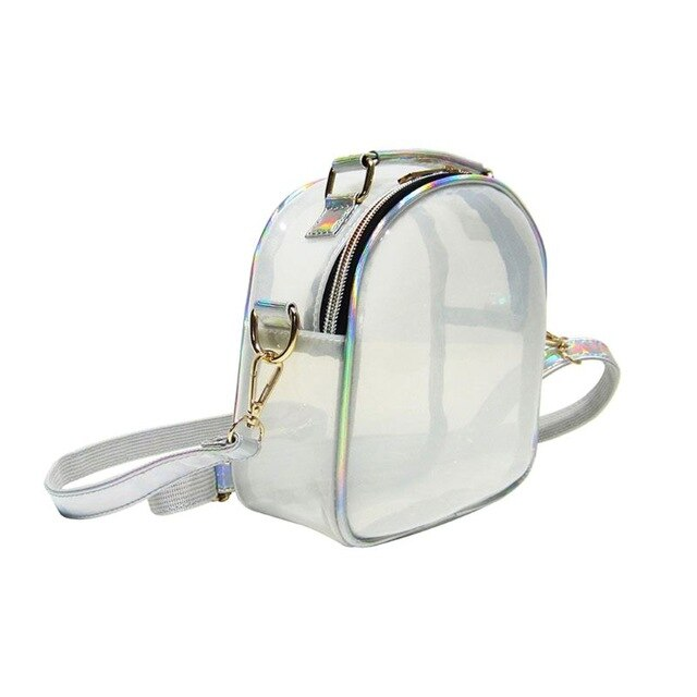 Women Girls Crossbody Clear Purse Shoulder Handbag Jelly Candy Color Oval Shaped Mini Transparent Bag Phone Credit Card Holder