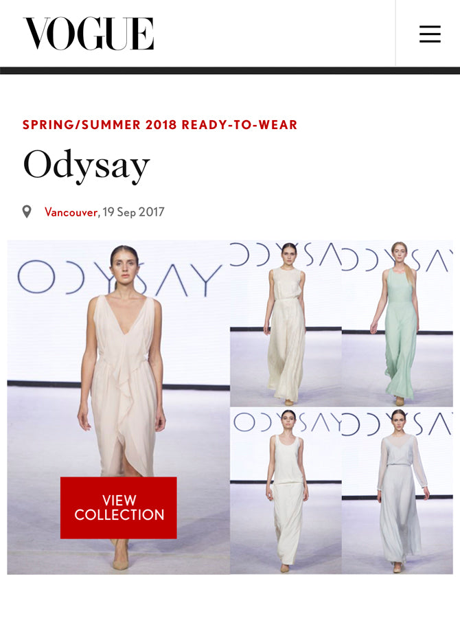Odysay featured in British Vogue