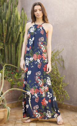 Silk printed floral dress Odysay