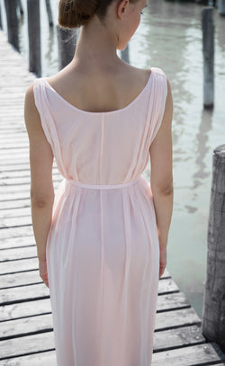 Robe en soie rose Grace Odysay