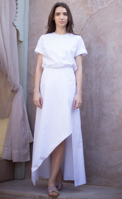 Sarah white cotton shirt Odysay
