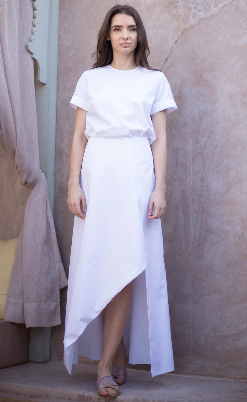Asymmetric cotton skirt Odysay