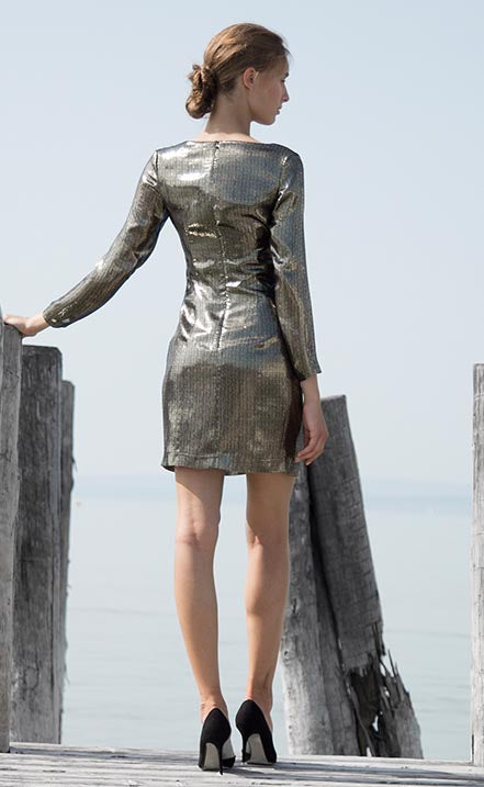 Rita party metallic dress Odysay