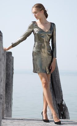 Rita metallic mini dress Odysay