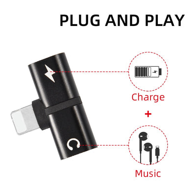 T-shaped headphone 2-in-1 dual-port headphone adapter