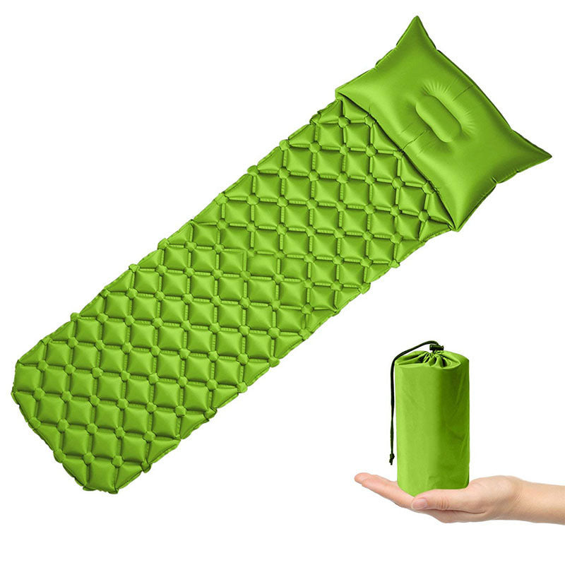 Outdoor Inflatable Camping Mat-Lights up Life-green-Lights up Life
