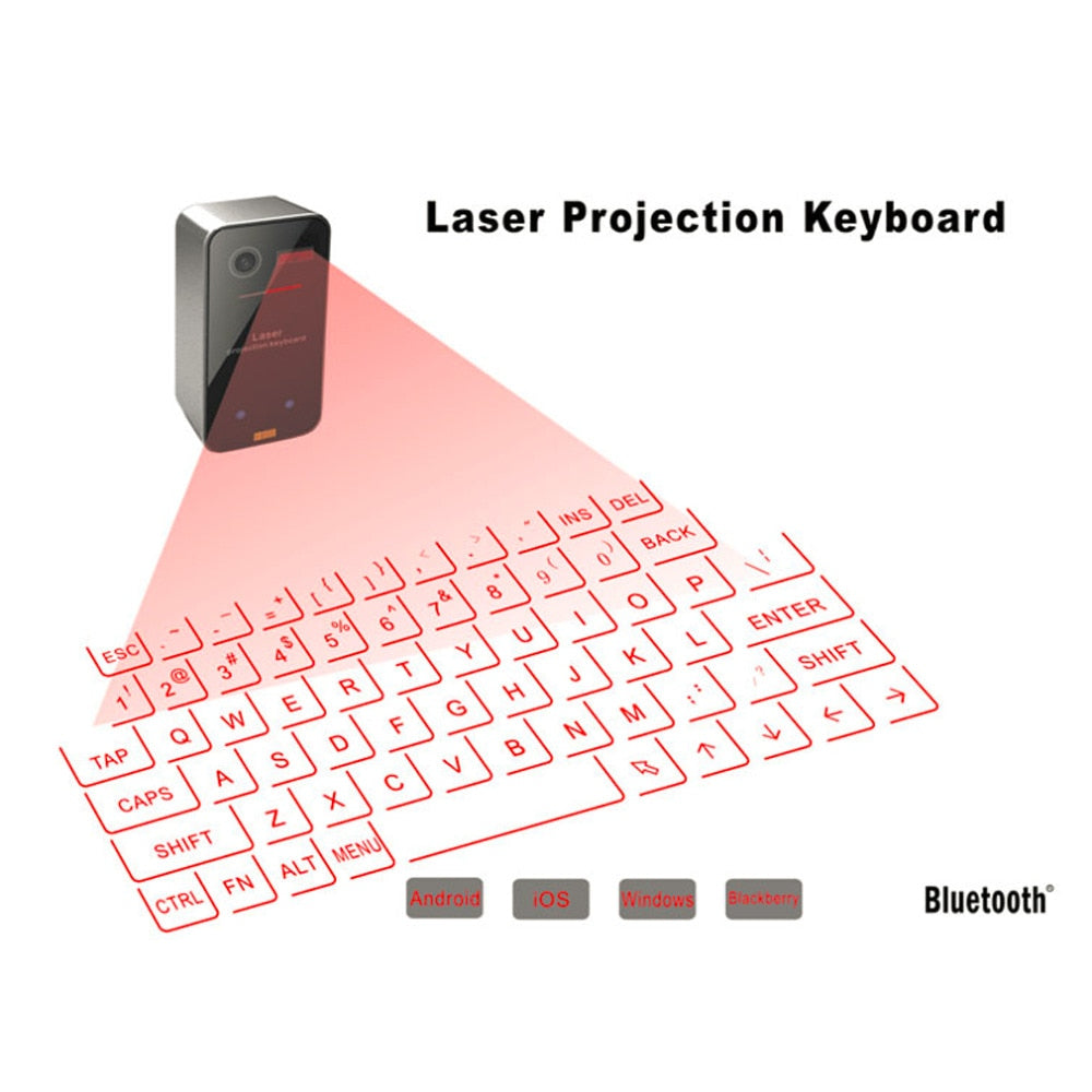 Portable Bluetooth Laser keyboard-Lights up Life-Lights up Life