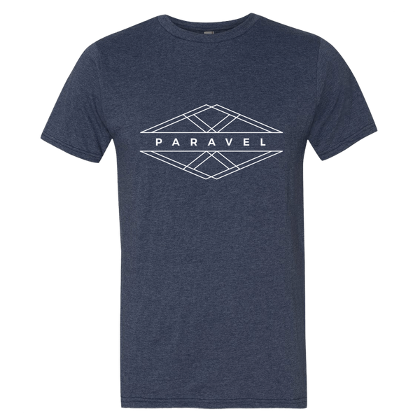 PARAVEL geometry logo tee - light on dark / men's - the PARAVEL store