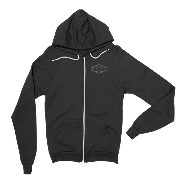 PARAVEL geometry logo zip-up hoodie / unisex - the PARAVEL store