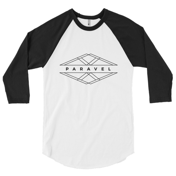 PARAVEL geometry logo 3/4 sleeve raglan - dark logo / unisex - the PARAVEL store