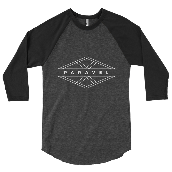 PARAVEL geometry logo 3/4 sleeve raglan - light logo / unisex - the PARAVEL store