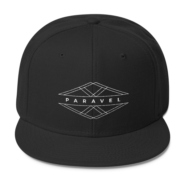 PARAVEL geometry logo wool blend snapback - the PARAVEL store