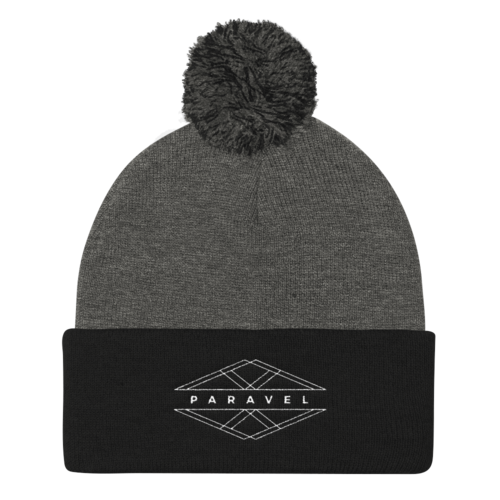 PARAVEL geometry logo pom pom knit beanie - the PARAVEL store