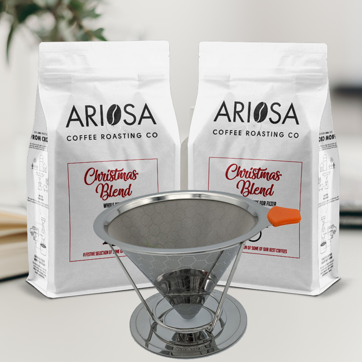 Christmas Blend & Reusable Filter Bundle