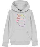 Fletch@ Kid's Hoodie -  Special Edition logo rainbow face