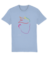 Fletch@ Unisex T-shirt - Special edition (small text) rainbow face