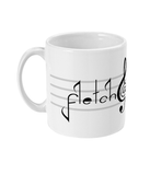 Fletch@ 11oz Mug logo on music bars