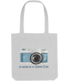 "Tote Bag ' I'd rather be at camera club""  Antique Blue Camera"