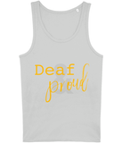 T-shirt Vest MENS -d/Deaf - Deaf & Proud