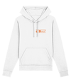 Hoodie - d/Deaf - logo small orange
