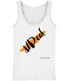 T-shirt - LADIES VEST d/Deaf - orange paint stripe, deaf not dumb