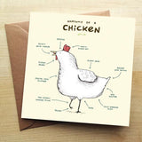 'Anatomy of a Chicken' Greetings Card