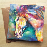 'Chestnut Horse'  Greetings Card