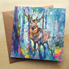 'Mystic Stag' Greetings Card