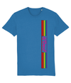 T-shirt - d/Deaf logo -RainbowStripes with pink highlights