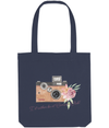Tote Bag id rather be at camera club floral