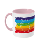 Fletch@ Two Toned Mug Rainbow