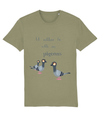 LGP Unisex T-shirt 'Id rather be with my pigeons' (long text)