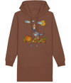 LGP Ladies  Hoodie  Dress- Autumn Pigeon