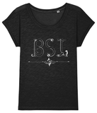 T-shirt (ladies cut) d/Deaf BSL script white text