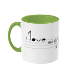 Fletch@ Two Toned Mug 'I love sign song'