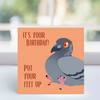 Card - 'It's your birthday , put your feet up! ' - Harold  LGP
