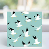 Seagulls - Greeting Card-  LGP