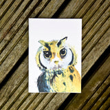 Notebook - recycled paper - Kate Moby  - Owl