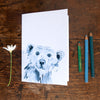 Notebook - recycled paper - Kate Moby  - Polar Bear