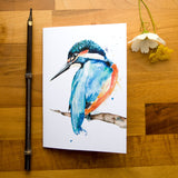 Notebook - recycled paper - Kate Moby  - Kingfisher