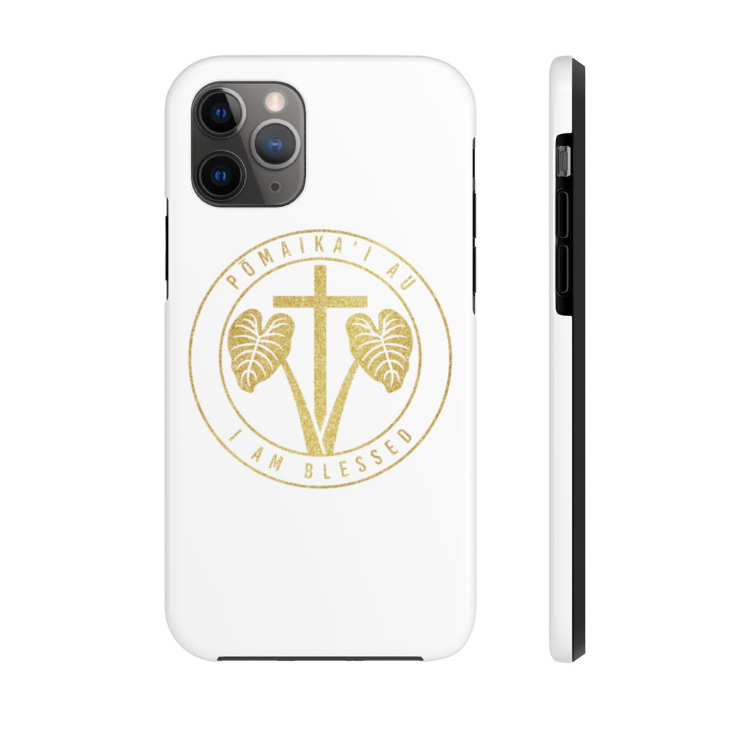 Pōmaikaʻi Au Gold Texture Logo Case Mate Tough Phone Cases