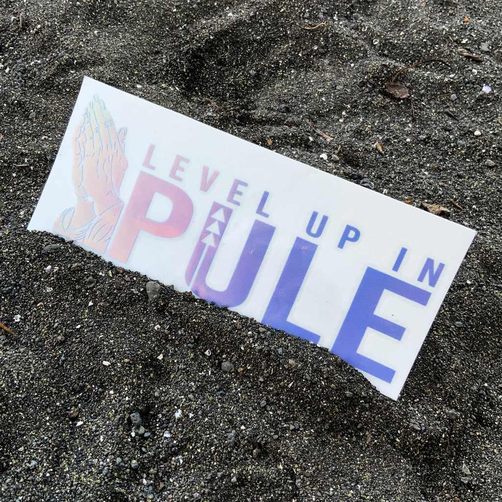 Level Up In Pūle Vinyl Decal - Blue Opal