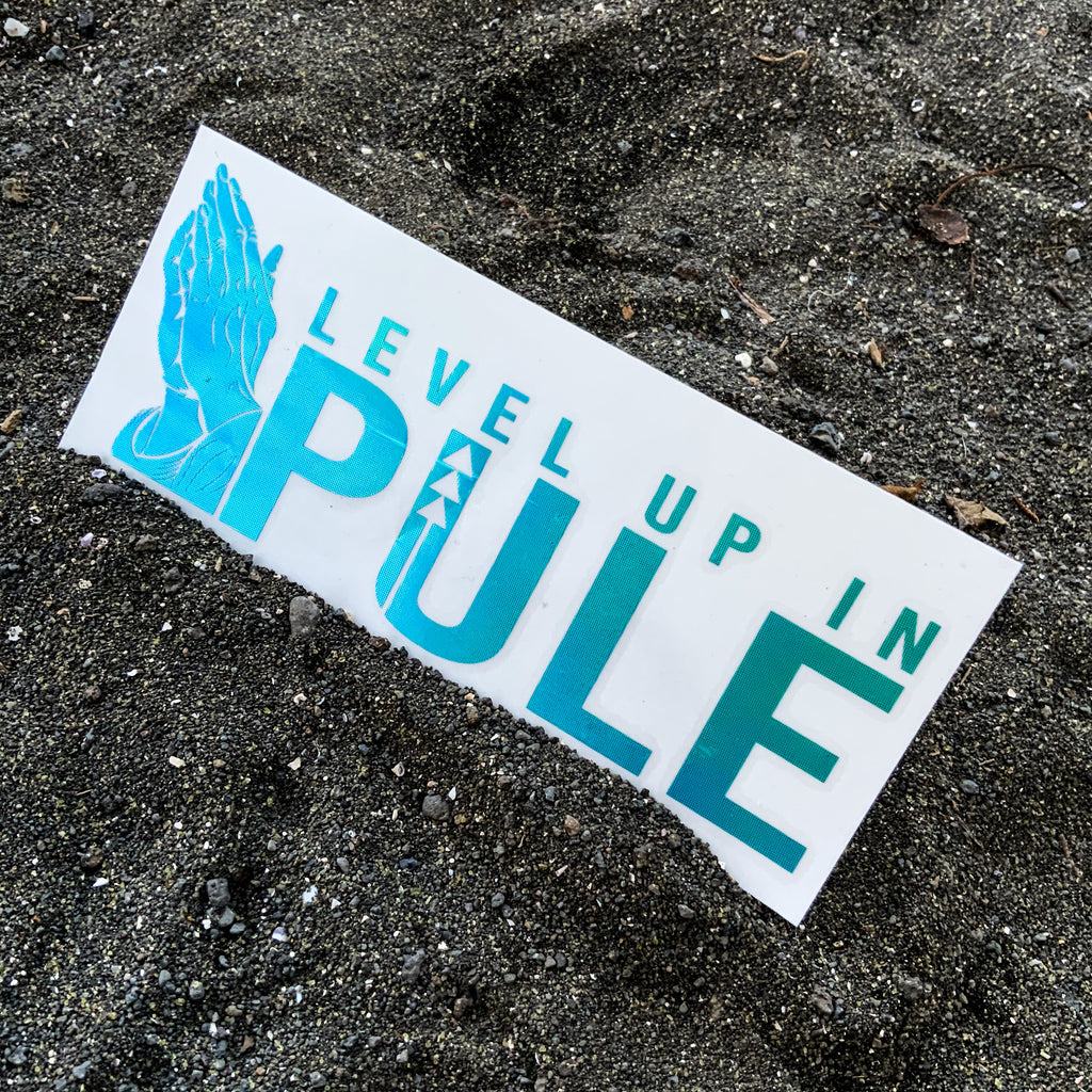 Level Up In Pūle Vinyl Decal - Green Opal