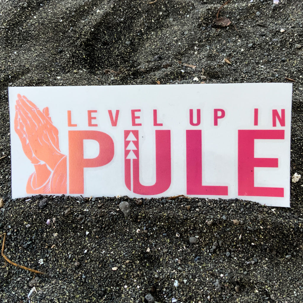 Level Up In Pūle Vinyl Decal - Orange Opal