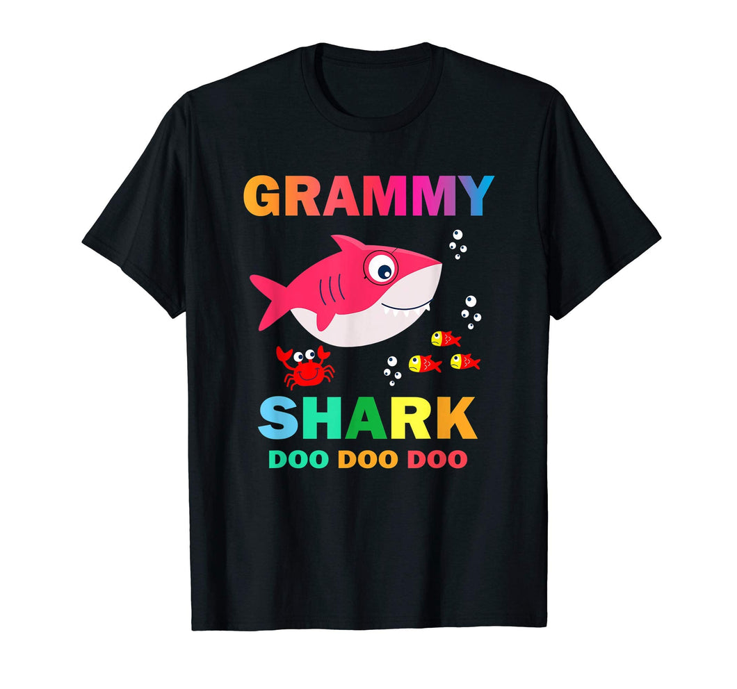 Grammy shark shirt, fathers day gift from wife son daughter
