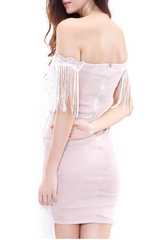 ELANA WHITE TASSEL DRESS - Shop Carley Glam - 3