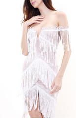 ELANA WHITE TASSEL DRESS - Shop Carley Glam - 2