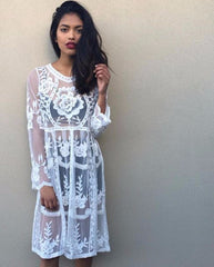 AVA WHITE LACE DRESS